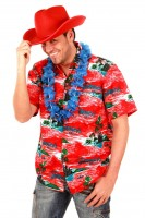 Hawaiihemd mit Muster in rot